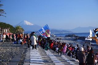 初日の出群舞 富士山